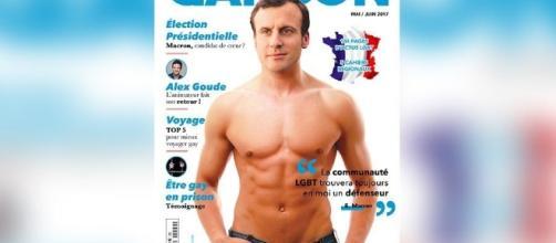 Quand un magazine LGBT met Macron torse nu en couverture