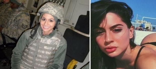 Hope faz sucesso na internet após deixar carreira militar para virar modelo.