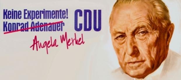 Merkel macht den Adenauer: Keine Experimente. (Source URG Suisse Konrad Adenauer Stiftung)