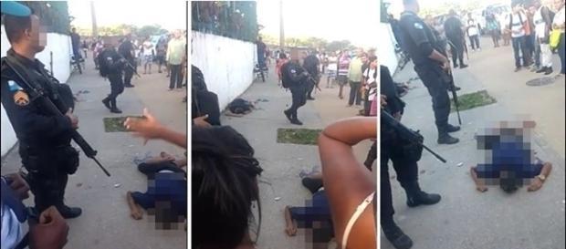Policiais foram atacados por população indignada com bandidos executados.