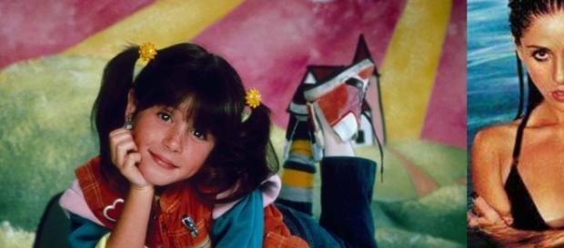 Soleil Moon Frye antes e depois de interpretar a garotinha Punky.