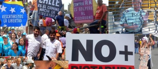 Venezolanos salieron a la calle a protestar por la sentencia del TSj