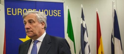 Antonio Tajani, presidente del Parlamento Europeo, alla Europe House (20 Aprile 2017) - Foto: Giulia Livia