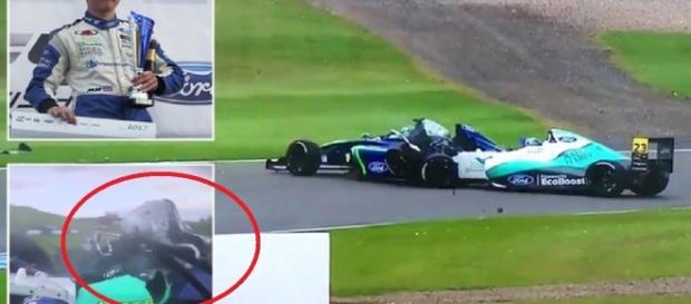 Piloto perde perna em corrida - Google
