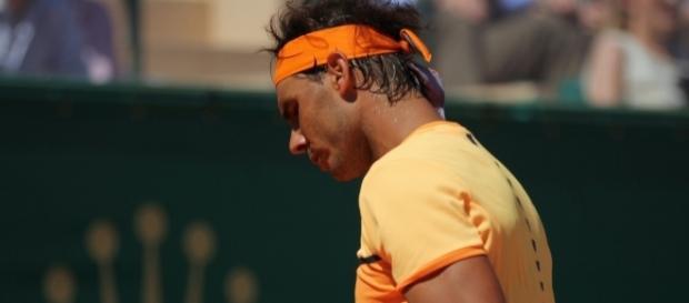 Rafa Nadal moves forward/ Photo via Marianne Bevis