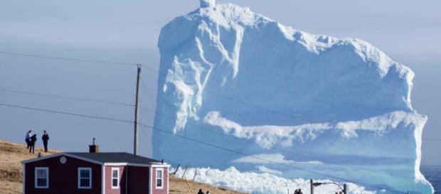 Un uriaș aisberg de pe coasta Canadei a devenit atracție turistică - Foto: Daily Mail (© Reuters/Jody Martin)