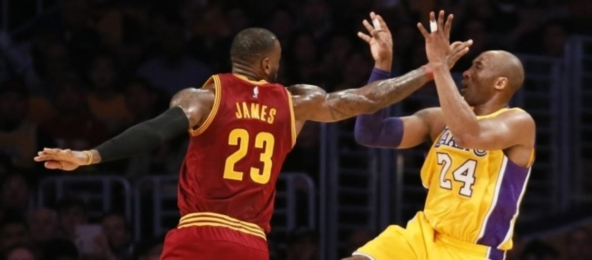 dce550effbf4 LeBron James passes Kobe Bryant on the NBA playoffs all time scoring list