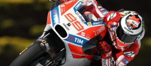 Jorge Lorenzo sulla Ducati Desmosedici GP17