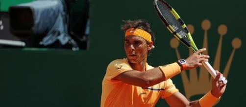 Rafa Nadal prepares to hit a forehand shot. Photo by Marianne Bevis -- CC BY-ND 2.0