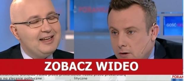 Adrian Klarenbach ostro maglował Kropiewnickiego. Źródło: TVP Info.