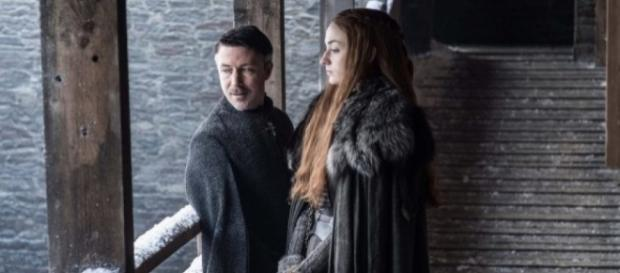 Sansa Stark et LittleFinger dans la saison 7 de Game Of Thrones