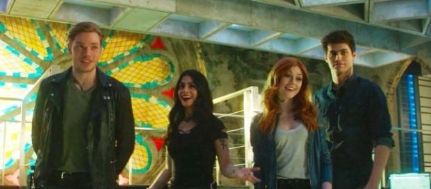 'Shadowhunters' cast members in the Institute (via - Freeform)