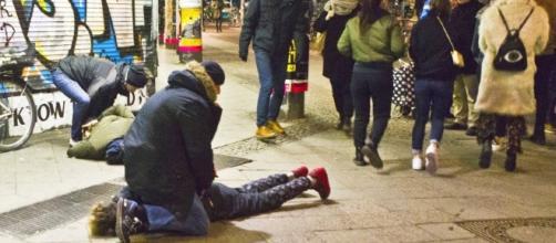 ladro viene arrestato in una stazione del metrò a Kreuzberg