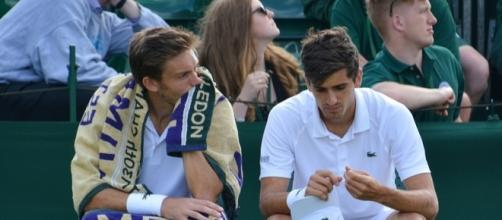 Pierre-Hugues Herbert and Nicolas Mahut during Wimbledon 2016. Photo by Kate -- CC BY-SA 2.0