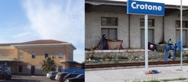 La stazione ferroviaria di Crotone - Calabria.