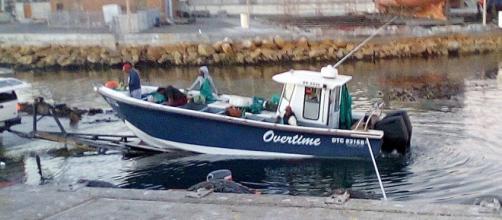Snoek fishing boat launch Lamberts Bay South Africa/ Photo by Jane Flowers