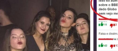 """Emilly e Mayla com as filhas gêmeas de Bonner. As """"quadrigêmeas"""" tem grupo de WhatsApp e se falam diariamente"""