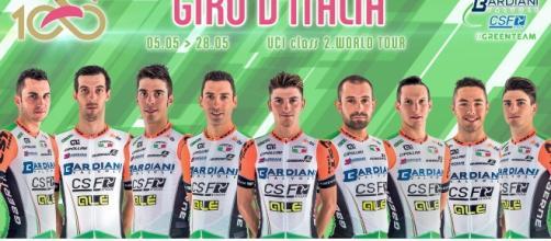 La Bardiani CSF al Giro d'Italia