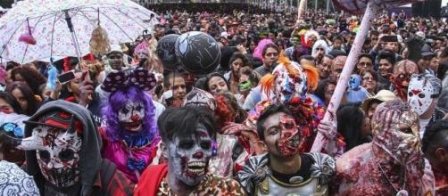 Marcha de Zombies en la ciudad de México.