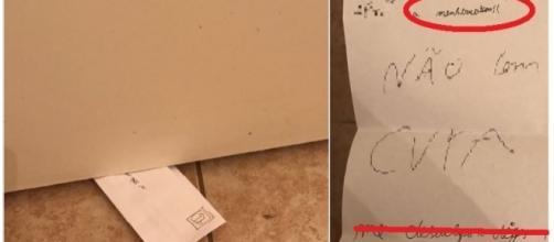 Menino deixa a irmã comovida com cartinha deixada sob sua porta, ao diagnosticar seu momento de TPM. Veja