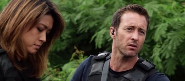 Kono (Grace Park) and McGarrett (Alex O'Loughlin) in 'Hawaii Five-0'/Photo via screenshot, 'Hawaii Five-0'/CBS