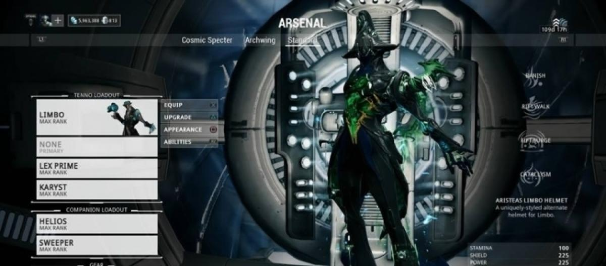 warframe equipping archwing