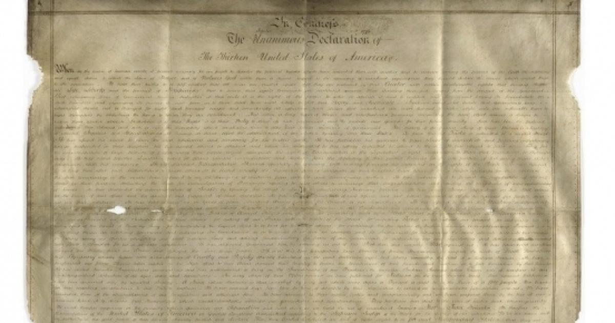 Americans findings: The Declaration of Independence and a Native American city