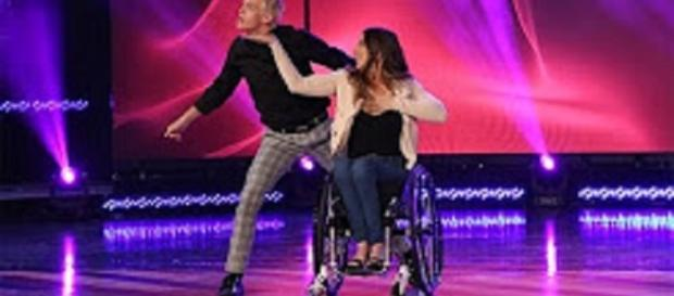 "Chelsie Hill and partner Josh Killacky send spirits to soaring heights with their dance routine on ""Ellen""--ellentv.com"