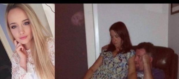 Dayna Lynch tira foto de sua madrasta e seu pai e é surpreendida com um vulto sinistro