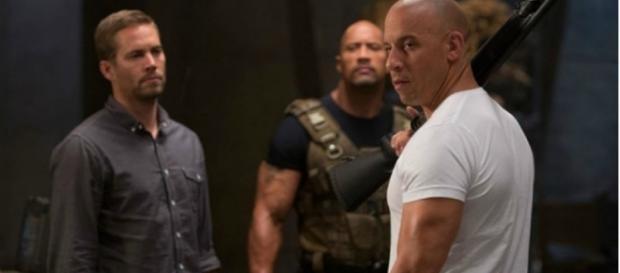 Paul Walker, Dwayne Johnson e Vin Diesel