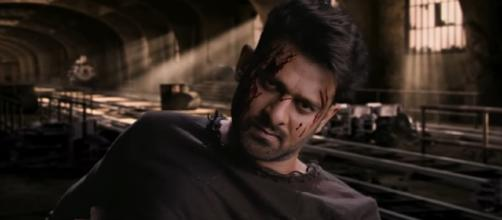 Prabhas from 'Saaho' (Image credits: screencap from youtube U V Creations)