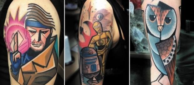 As artes do tatuador britânico Mike Boyd (Fotos: Reprodução/Mike Boyd Tattoos)