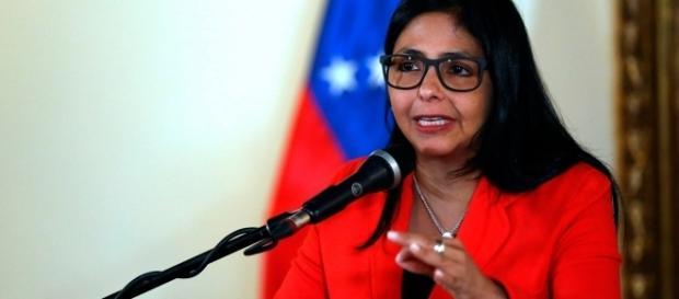 Chanceler venezuelana Delcy Rodrígues.