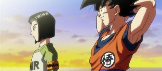 No.17 y Goku en el episodio 87
