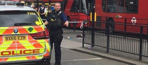 Armed police have closed off the area at Whitehall