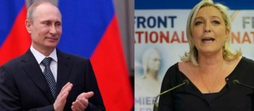 Putin e Le Pen (credits: Secolo d'Italia)
