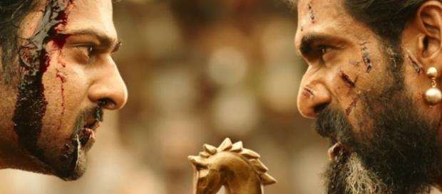 A still of Prabhas and Rana Daggubati from 'Baahubali: The Conclusion'