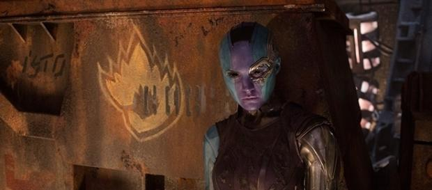 "Nebula has turned on Thanos and joins the ragtag of superheroes in ""Guardians of the Galaxy 2."" (via Marvel/Comingsoon.net)"