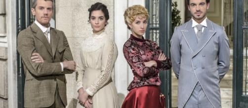 Mauro, Teresa, Cayetana y Fernando en la serie Acacias 38.