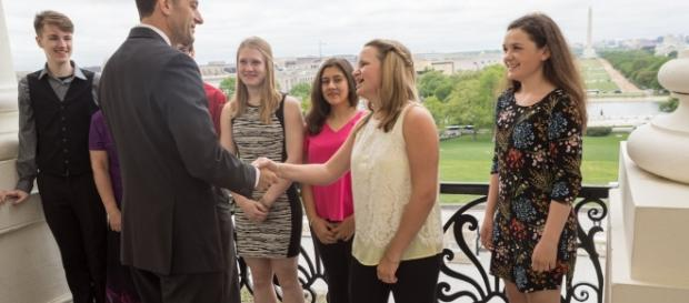 Paul Ryan greets female cancer survivors (Rep. Paul Ryan)