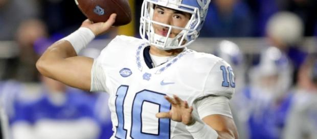 Quarterback Mitchell Trubisky was selected at No. 2 by the Chicago Bears after a trade. [Image via Blasting News image library/inquisitr.com]