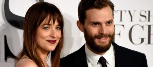 Dakota Johnson e Jamie Dornan.