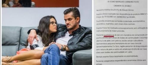 Exame de Emilly Aráujo vaza na web (Imagens: Reprodução Twitter)