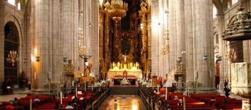 Interior de catedral metropolitana de la Ciudad de México