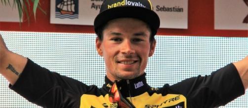Primoz Roglic (Lotto NL-Jumbo) vince la tappa odierna