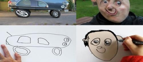 Veja alguns desenhos das crianças convertidos como sem fossem reais
