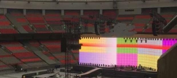 Il Bc Place Stadium di Vancouver con lo stage del tour