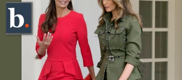 La primera dama de Argentina Juliana Awada lució tacones Aquazzura, esta marca demandó a Ivanka Trump supuestamente por copiar sus modelos