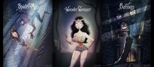 Algumas ilustrações de Andrew Tarusov. Reprodução/Facebook/Andrew Tarusov Pin-Up & Illustration.