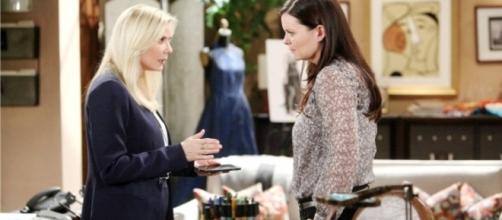Brooke told Quinn to keep quiet about Ridge and Quinn - via CBS.com